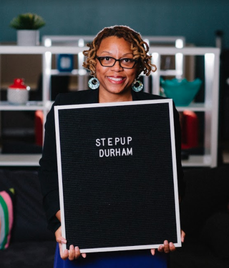 Syretta Hill, Executive Director of StepUp Durham, trains people on how to obtain and maintain employment. Her guilty pleasure is binge-watching TV shows and fun fact...she has been sky diving!
