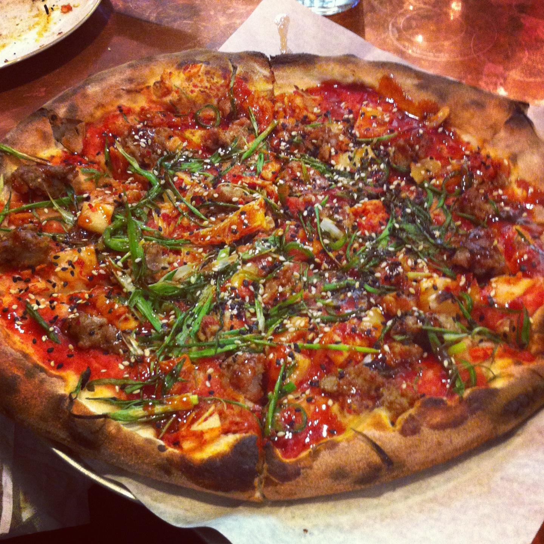 Kimchi pizza at Pizzeria Lola - Minneapolis, MN
