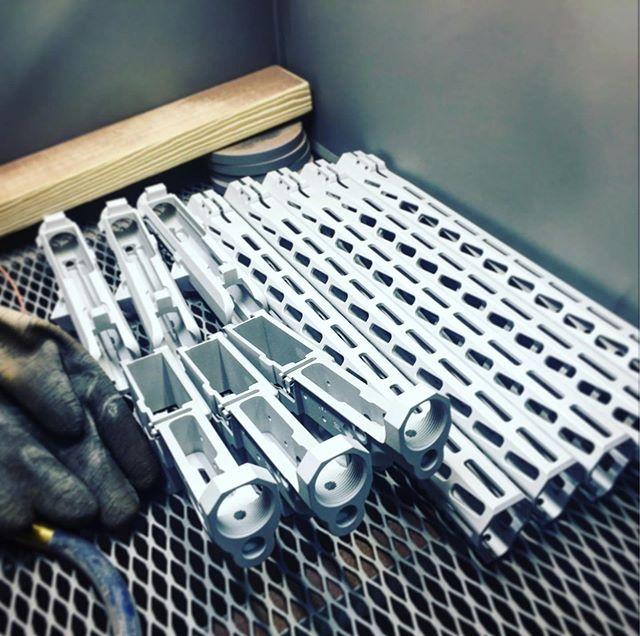 Blasting sometimes is therapeutic but only sometimes. 😂 #longdays #sandblasting #gunbuilding #customshop #america #ar15