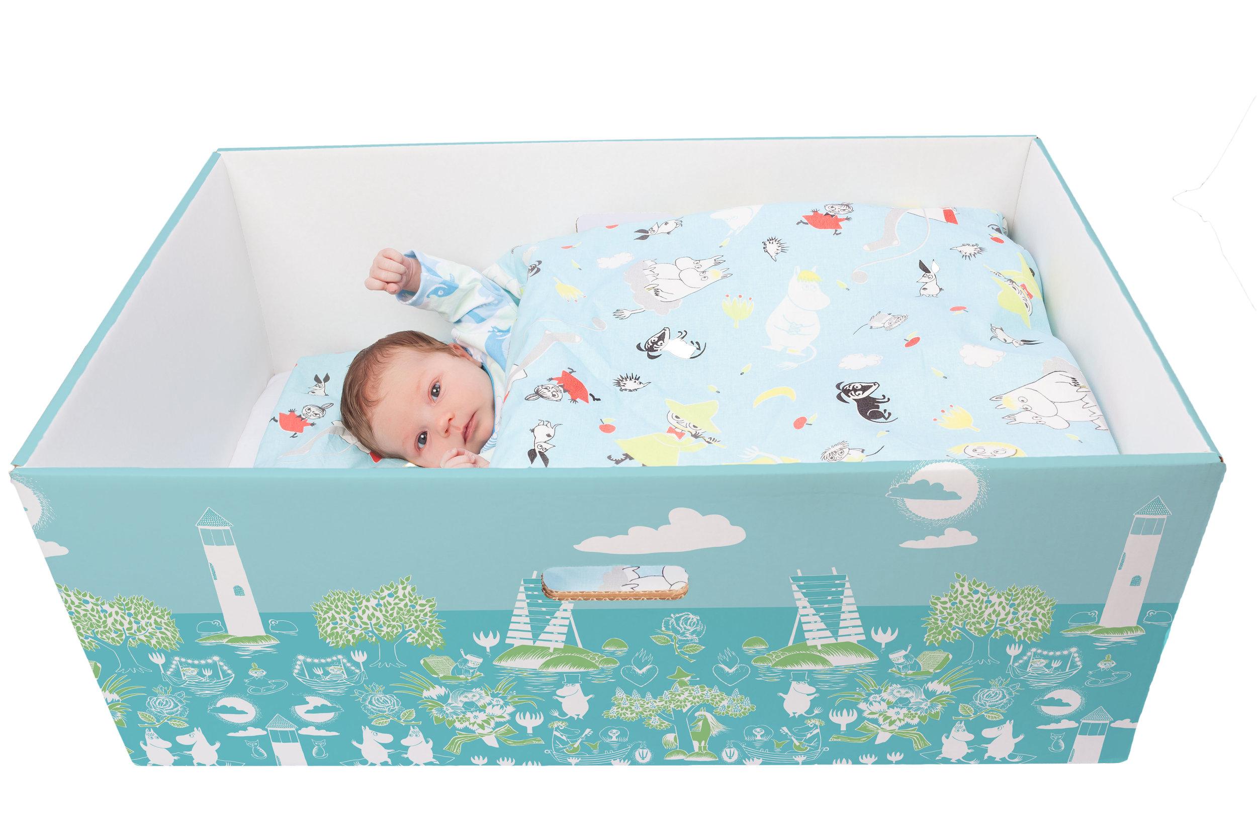 A Finish baby box. Photo courtesy of  Finnish Baby Box .