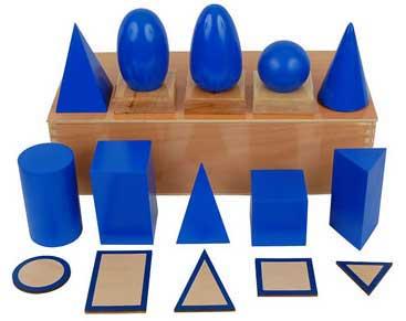 Montessori geometric solids.