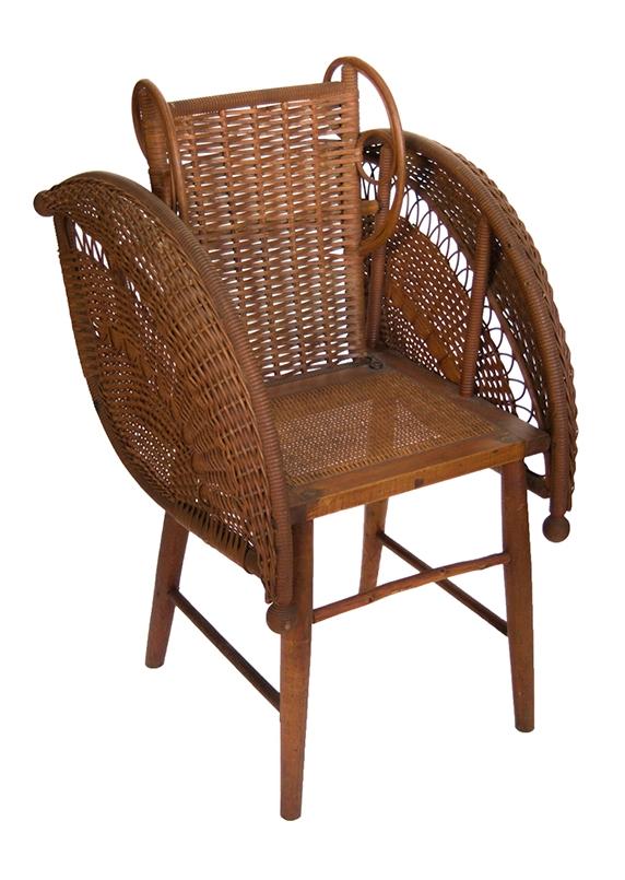 Rattan Chair by Heywood Wakefield,  1853-1905 . Photo via  kindermodern.com