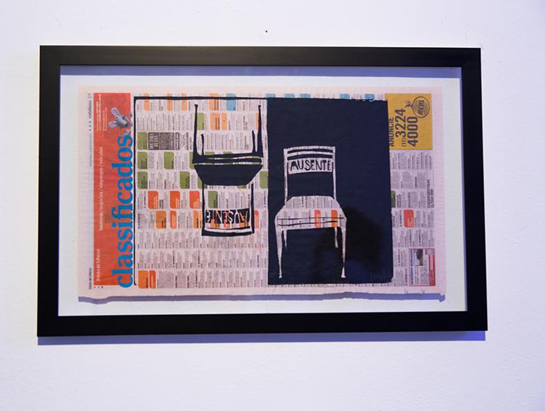 SENHOR KOSUTH: IN ABSENTIS I E II    Serigraphyon jornal paper  2012