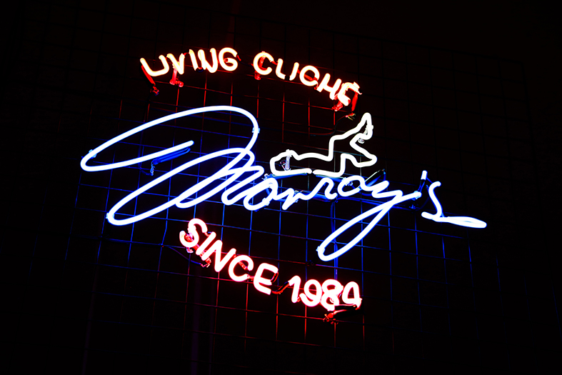 MONROY'S LIVING CLICHE SINCE 1984      Neon sing
