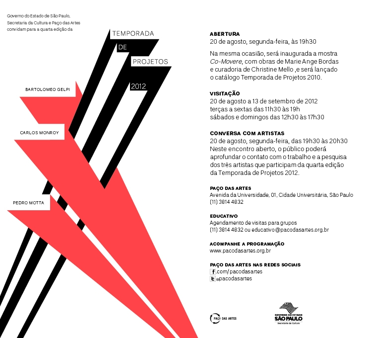 INVTATION TO THE VERNISSAGE AND THE EXHIBIT