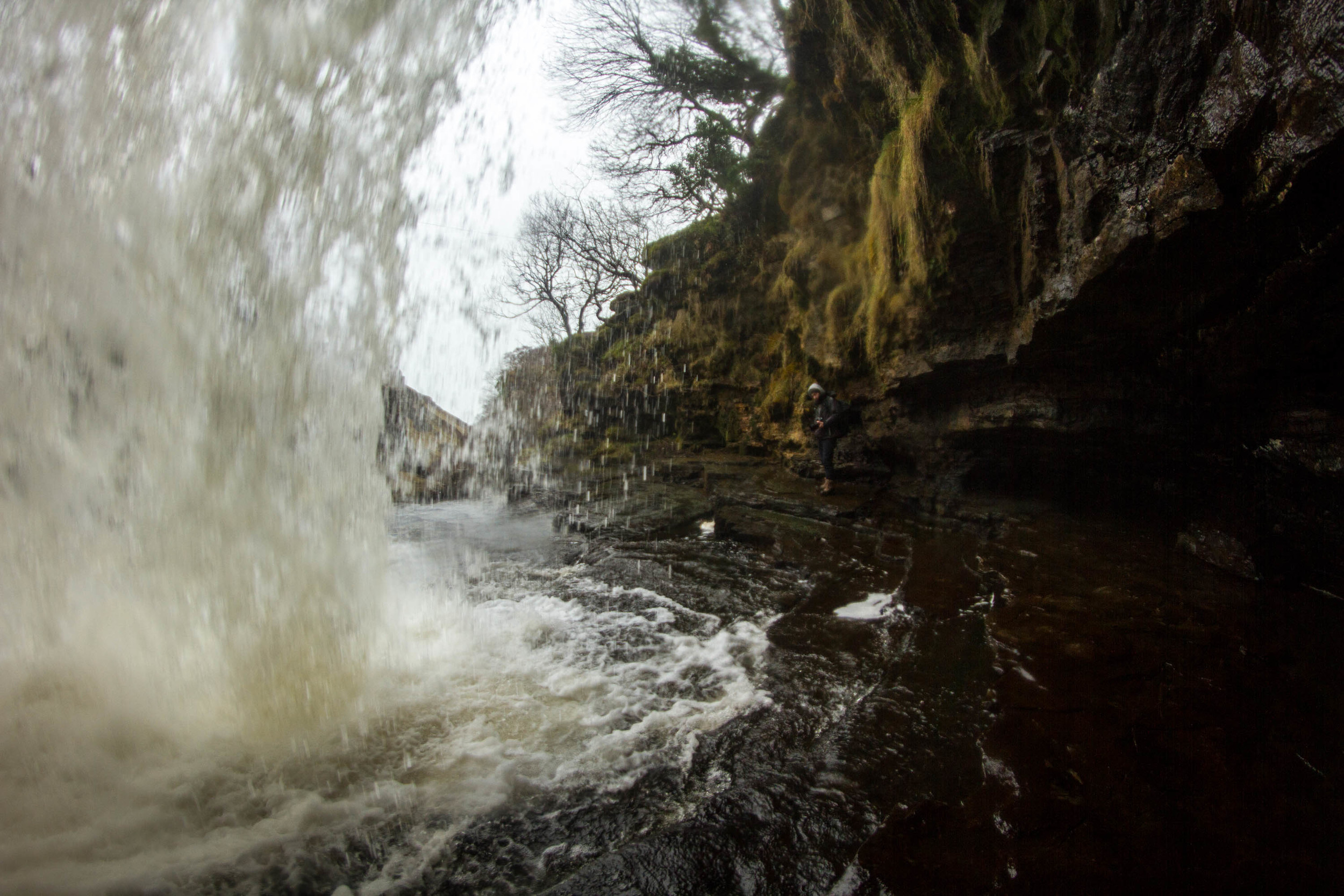 Under the falls