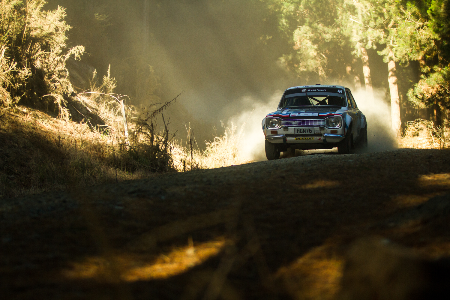 Otago Rally shot for a driver