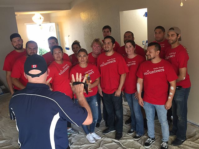 We are so grateful for @wellsfargo for sponsoring and volunteering on today's home renovation project. Find out how you too can help @habitatinlandvalley change lives!