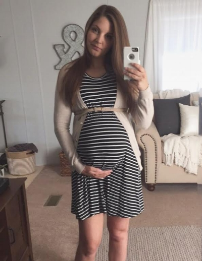 The last photo I took of my bump - on my due date!