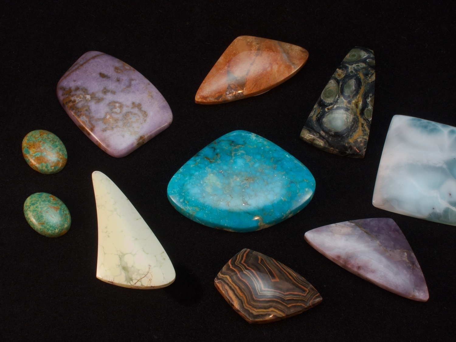 A selection of stones I recently acquired on a trip to Arizona