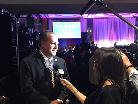 Tim Breaux, Co-chair of the Donald Trump campaign - Louisiana gives interviews after Trump's victory. (Photo: Monique Breaux)