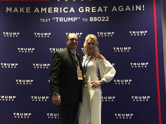 Tim and Monique Breaux at the Trump victory party in New York City. (Photo: Submitted)