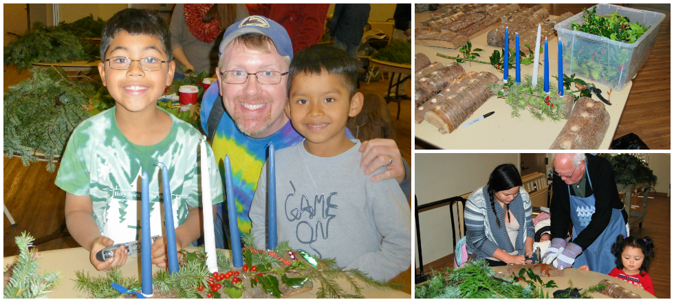 Here are some photos of the Advent Logs created last year at Holy Spirit Lutheran Church.