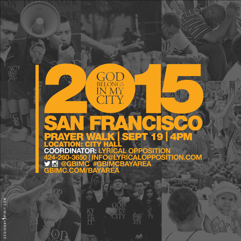 GBIMC and Lyrical Opposition announce partnership to bring God Belongs In My City: Bay Area