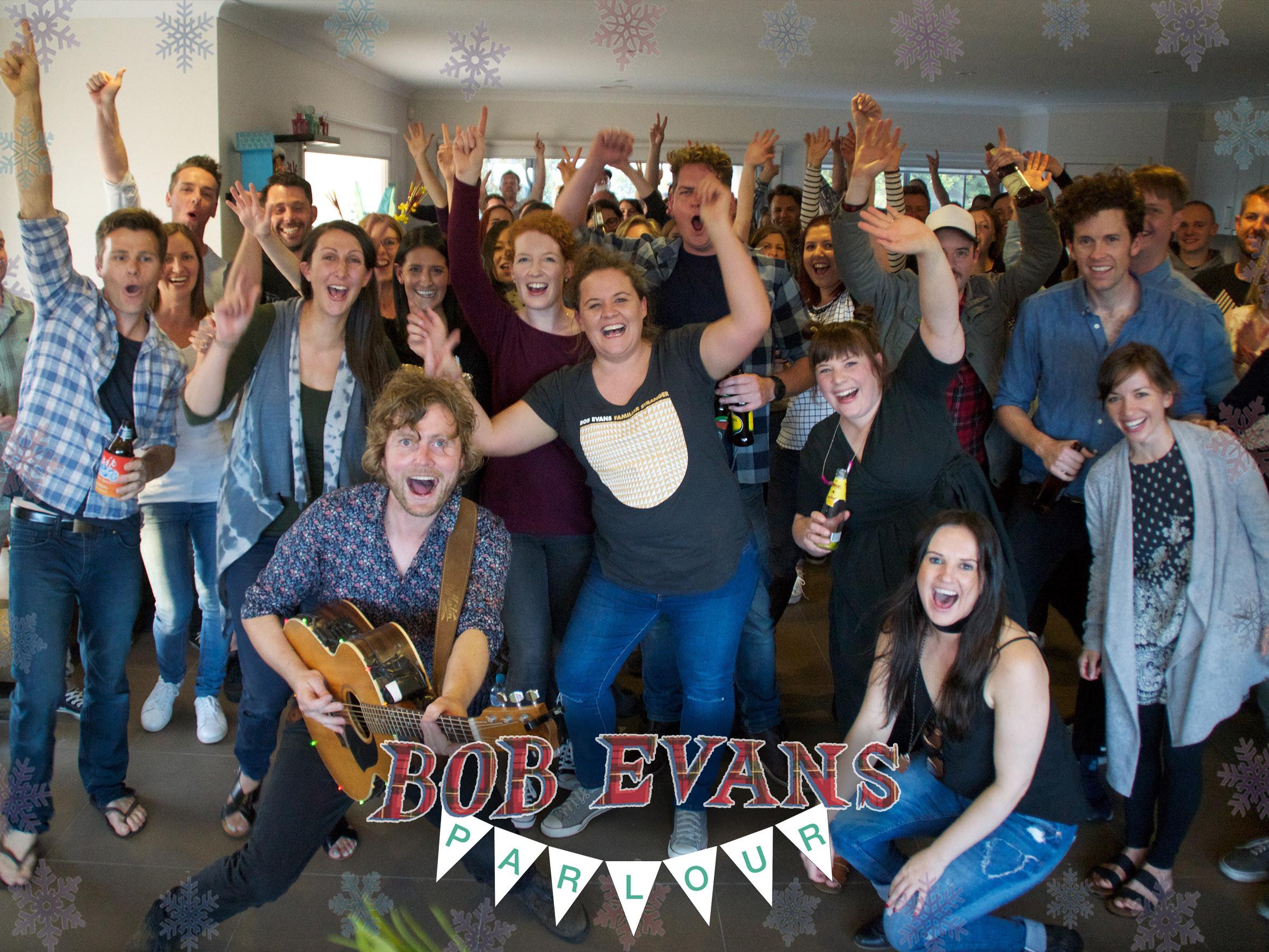 Bob Evans, Hosts and attendees at a Parlour gig in Torquay