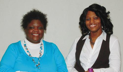 Bernadette Turner, left, with Erica L. Upshaw-Givner. (Photo by Rossano Stewart)