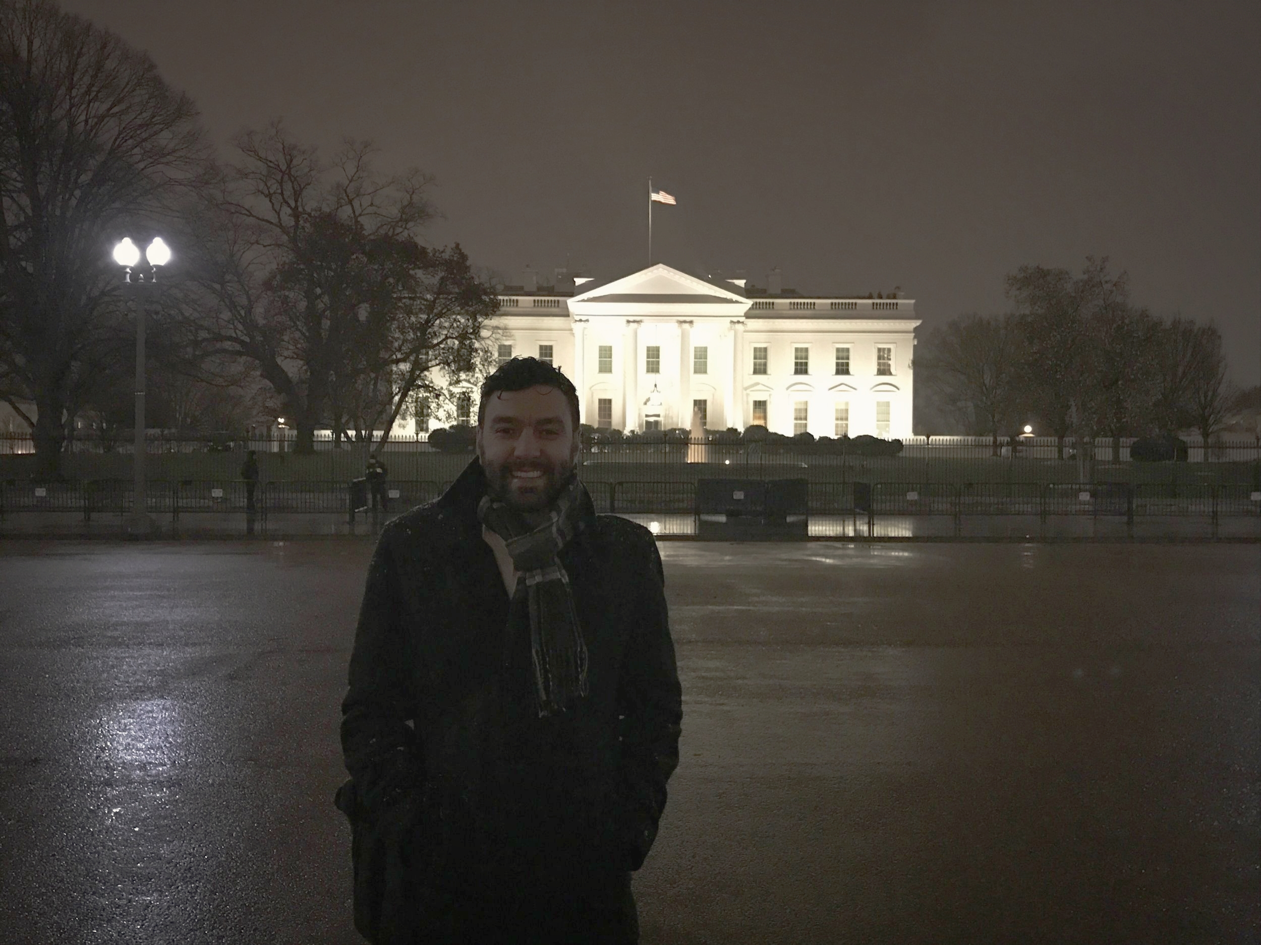 VRM Director of Development, Ryan Stillwater, in front of White House