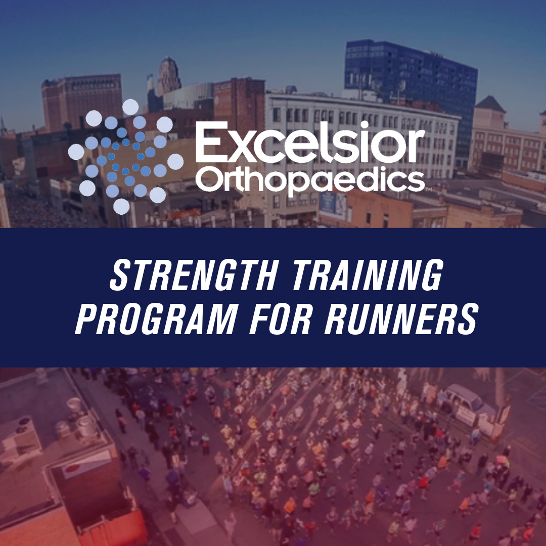 DID YOU KNOW THAT APPROXIMATELY 80% OF RUNNERS WILL MISS MORE THAN ONE WEEK A YEAR DUE TO INJURY? - Stay healthy and perform at your best with Excelsior Orthopaedics four phase strength training program. Click the link below to learn more about the Excelsior Orthopaedics strength training program