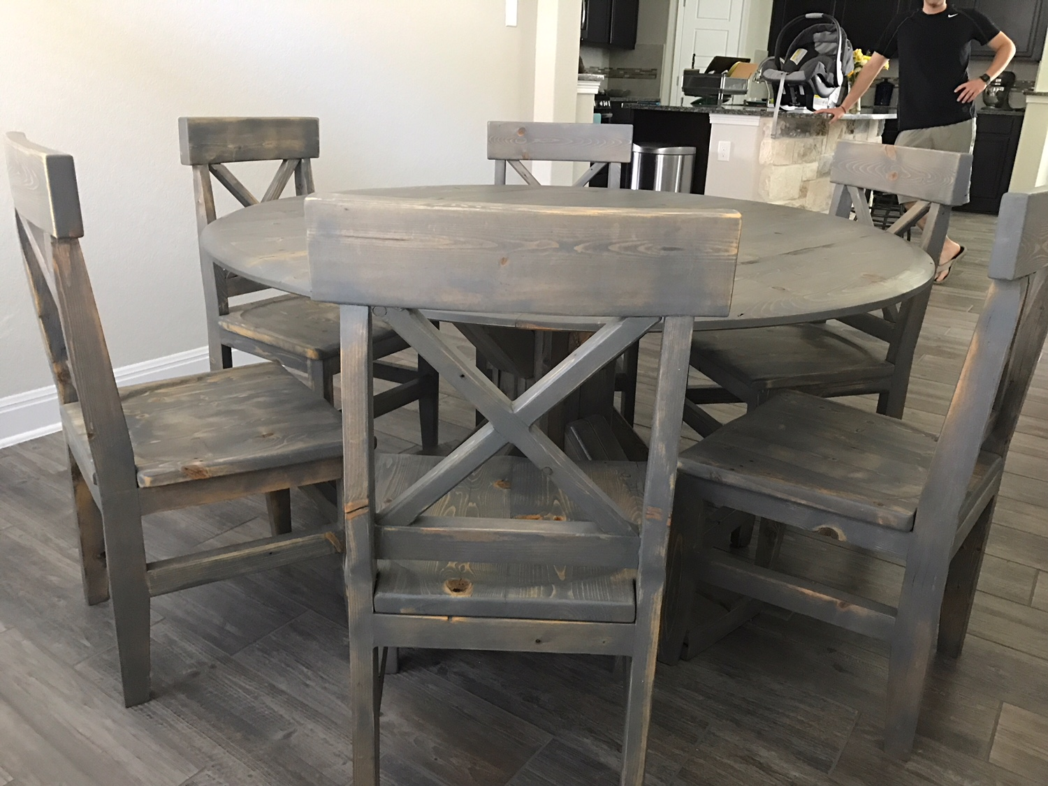 Custom Round Kitchen Table