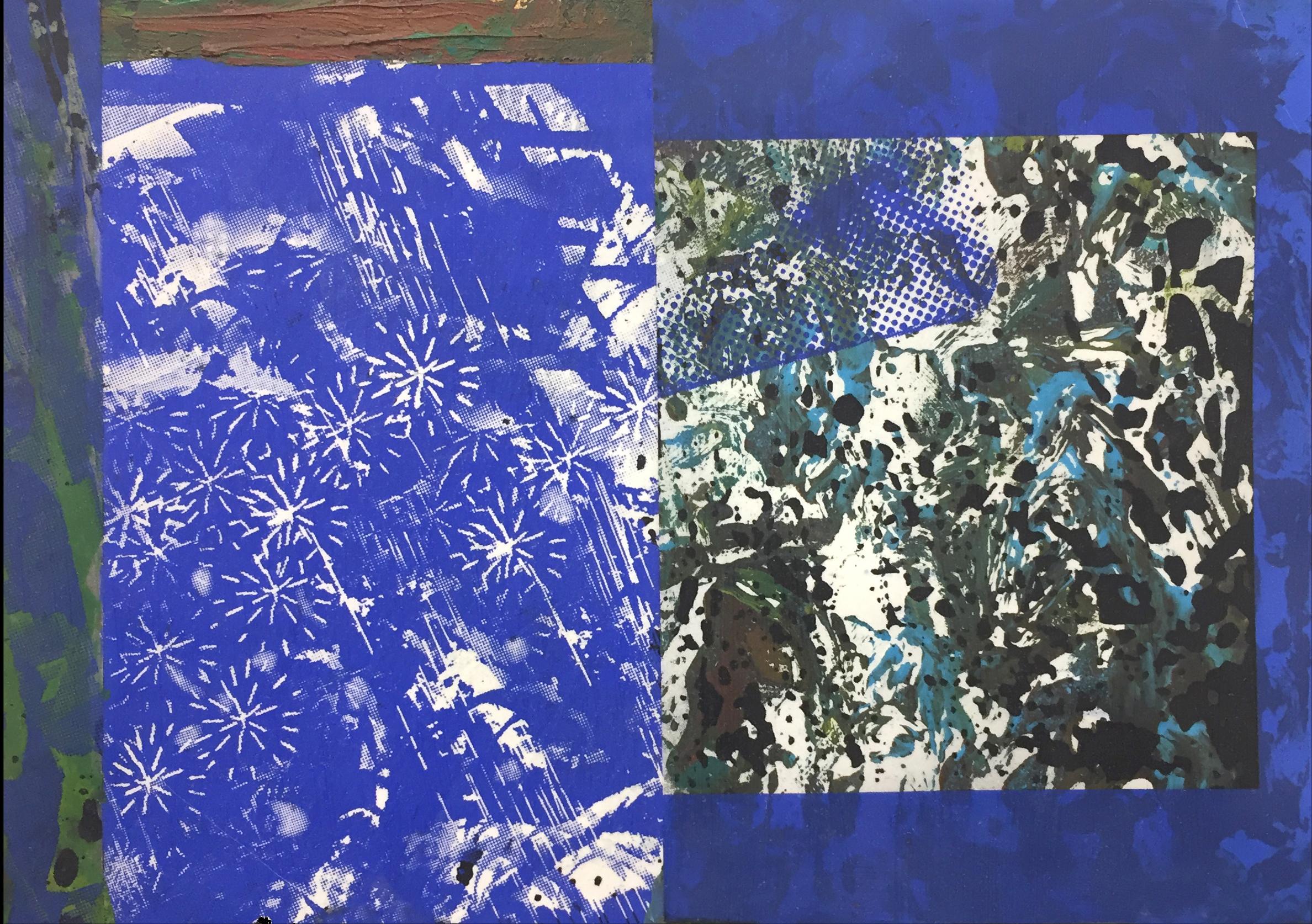 Blue Fade 1, 8.5 x 11 in. 2017.
