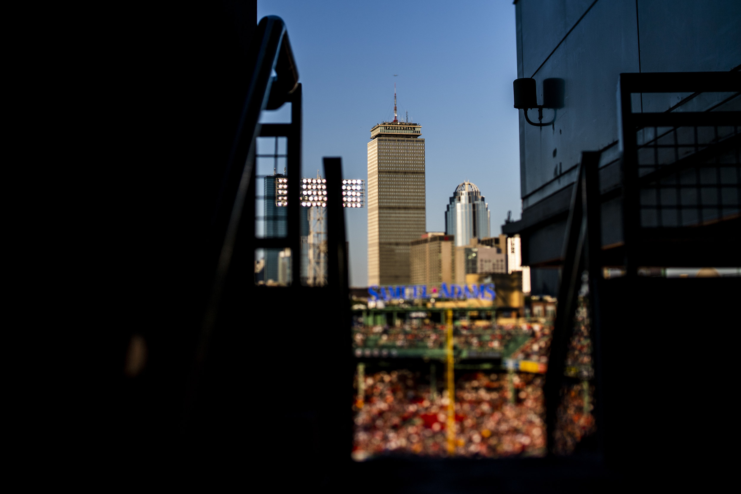 July 8, 2018, Boston, MA: The Prudential Center as the Boston Red Sox face the Texas Rangers Fenway Park in Boston, Massachusetts on Monday, July 9, 2018. (Photo by Matthew Thomas/Boston Red Sox)