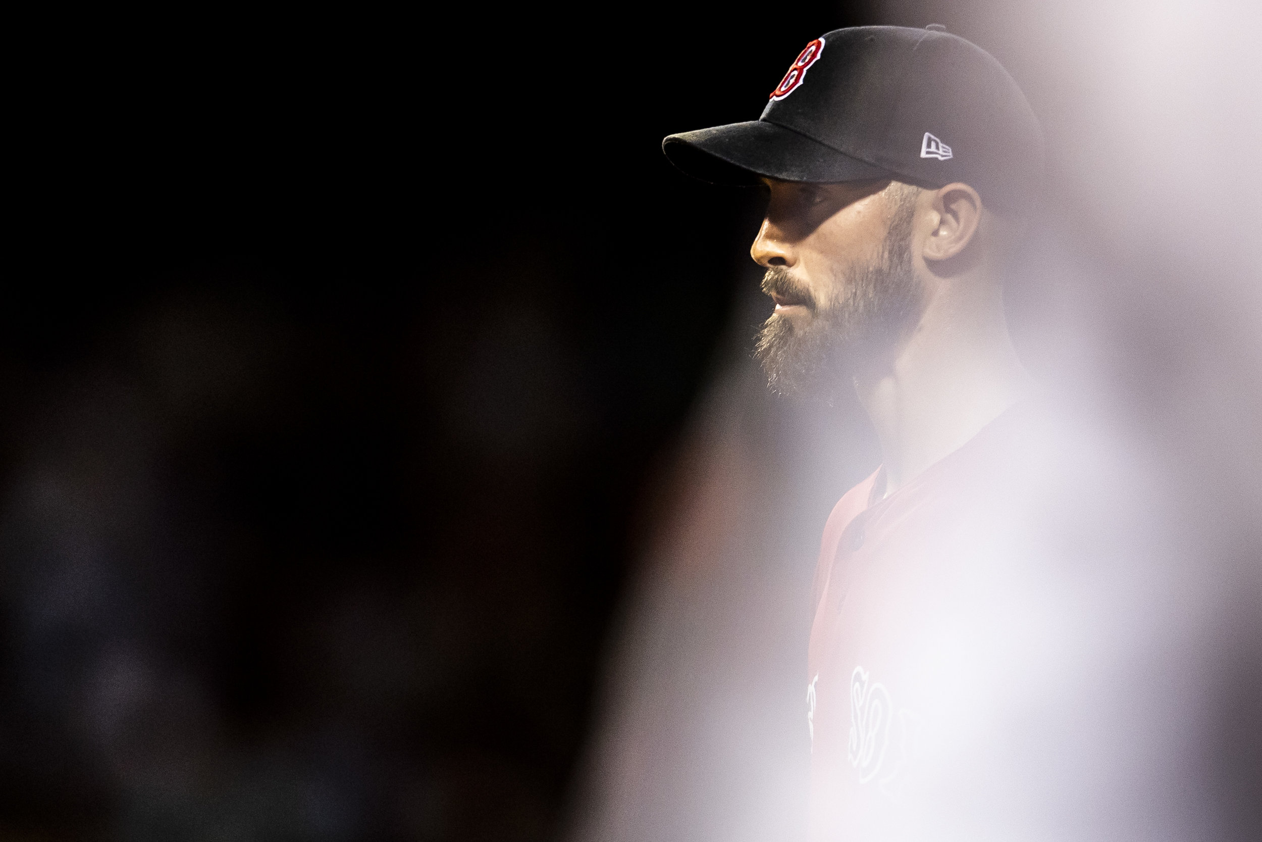 August 3, 2018, Boston, MA: Boston Red Sox pitcher Rick Porcello walks off the field after the end of the inning as the Boston Red Sox face the New York Yankees at Fenway Park in Boston, Massachusetts on Friday, August 3, 2018. (Photo by Matthew Thomas/Boston Red Sox)
