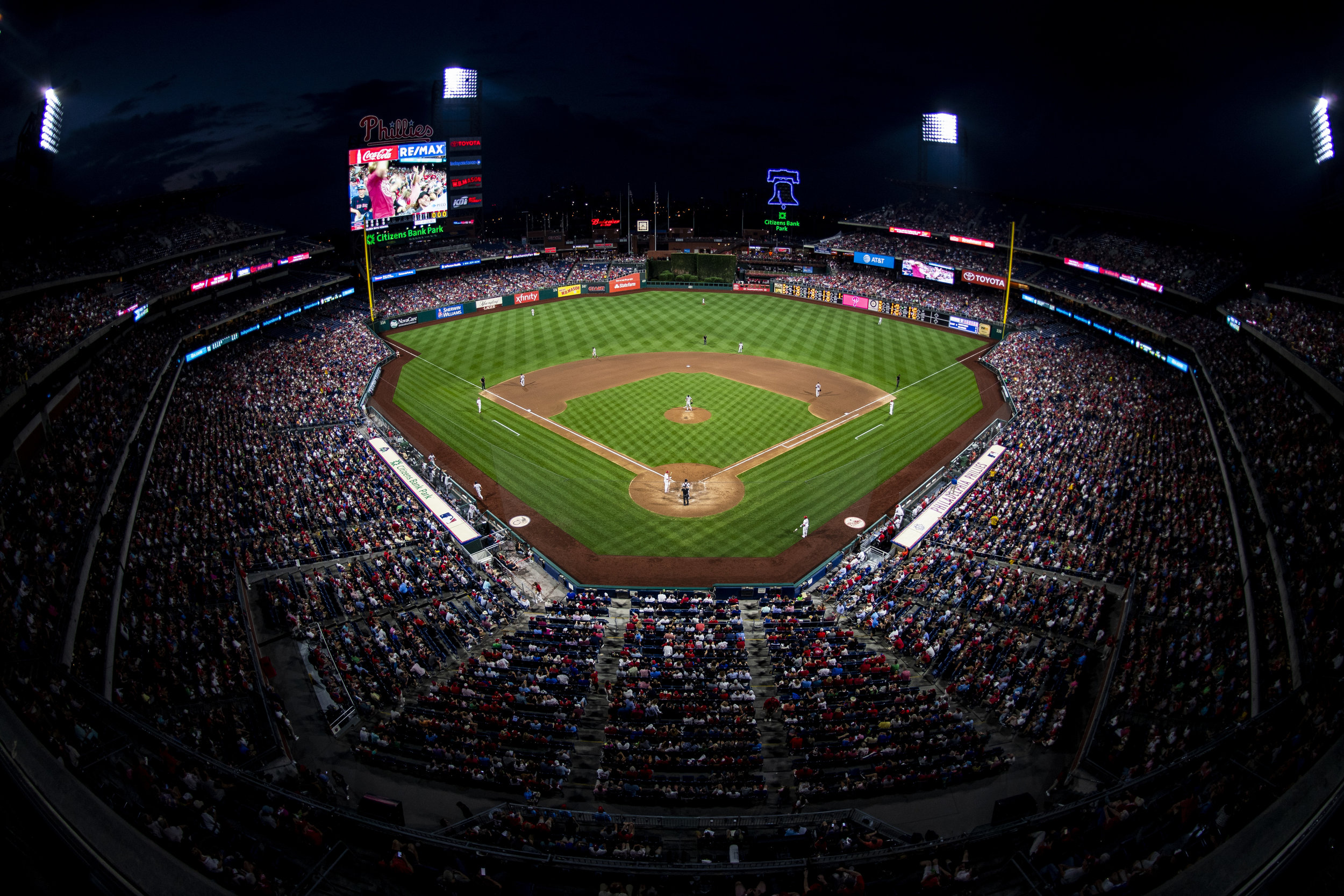 August 14, 2018, Philadelphia, PA: A view of the entire ballpark as the Boston Red Sox face the Philadelphia Phillies at Citizen Bank Park in Philadelphia, Pennsylvania on Tuesday, August 14, 2018. (Photo by Matthew Thomas/Boston Red Sox)