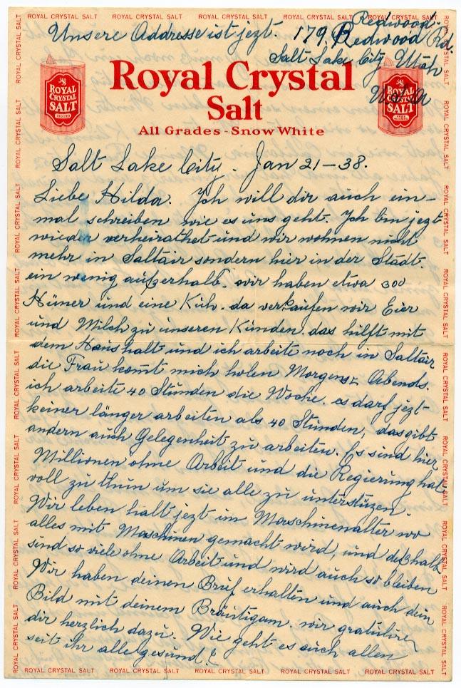 21 January 1938, p. 1
