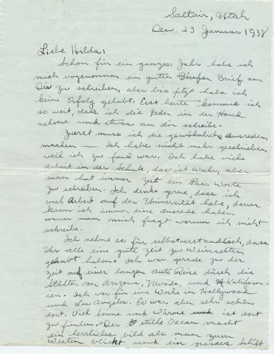 23 January 1938, p. 1