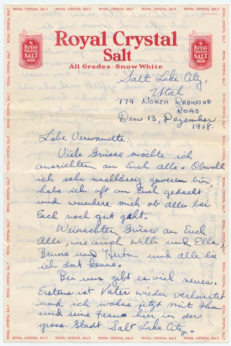13 December 1938, p. 1