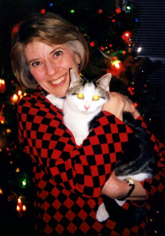 Marianne with Muschi the Cat