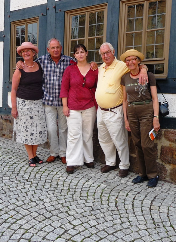 At the Lutherhaus in Eisenach, Germany