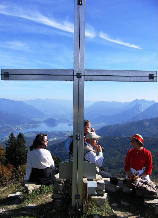 Under the Cross on Zwölferhorn Mountain
