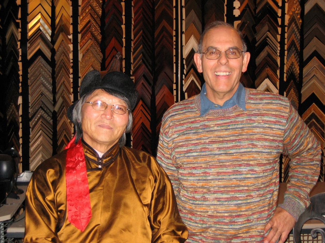 With the Mongolian Poet, Galsan Tschinag