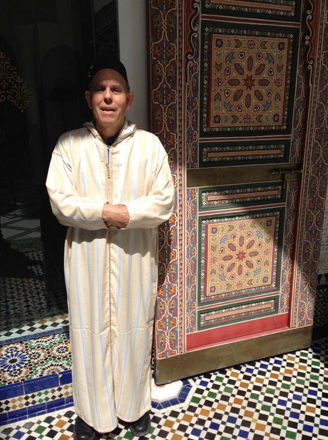 Dick Wearing Fez in Fez