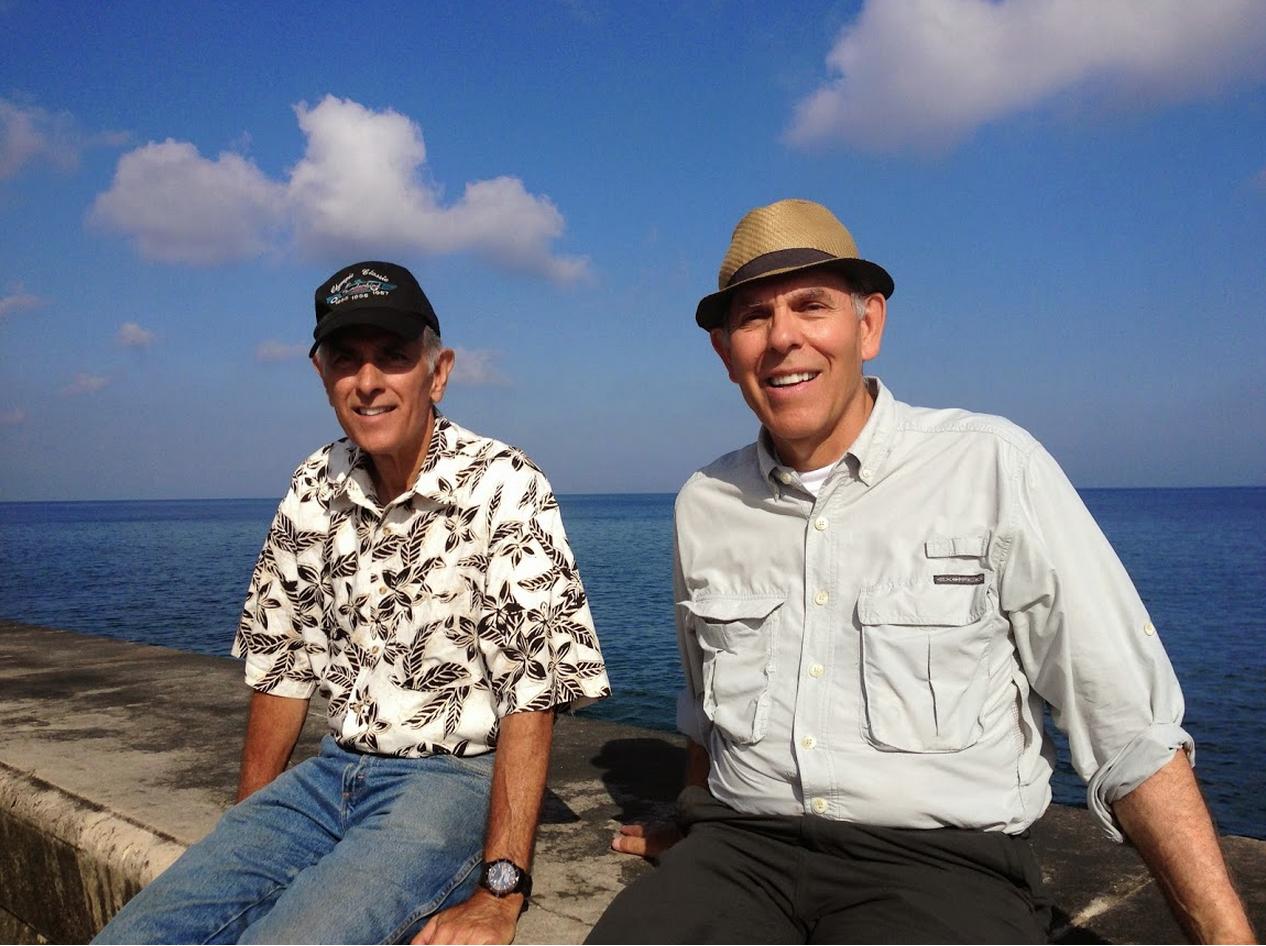 Dick and Bob on the Seawall at Havana, 2014