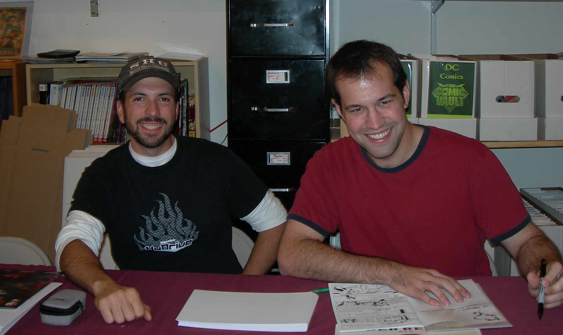 The founders of SouthPaw Studios at their first signing at the Chicago Comic Vault.