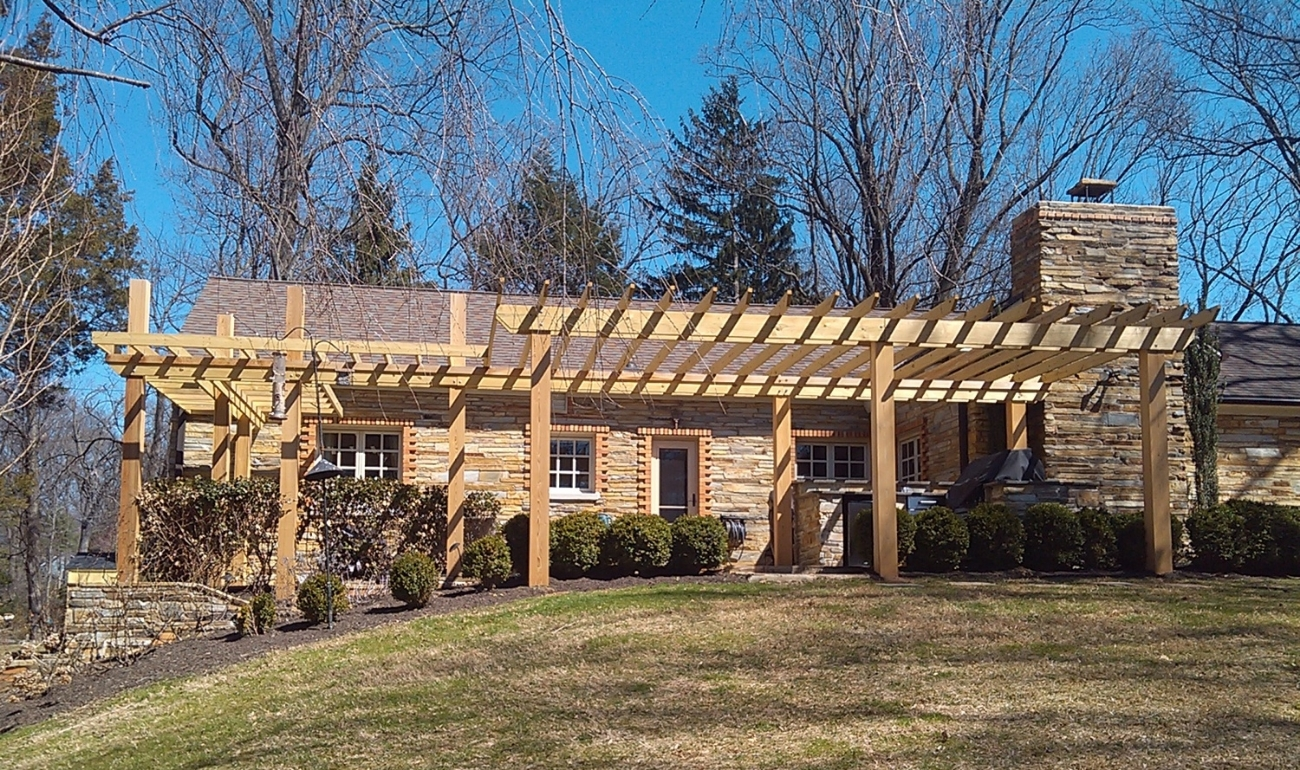 Cantilevered Trellis design, engineering and construction