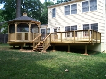 Deck and gazebo, design and construction