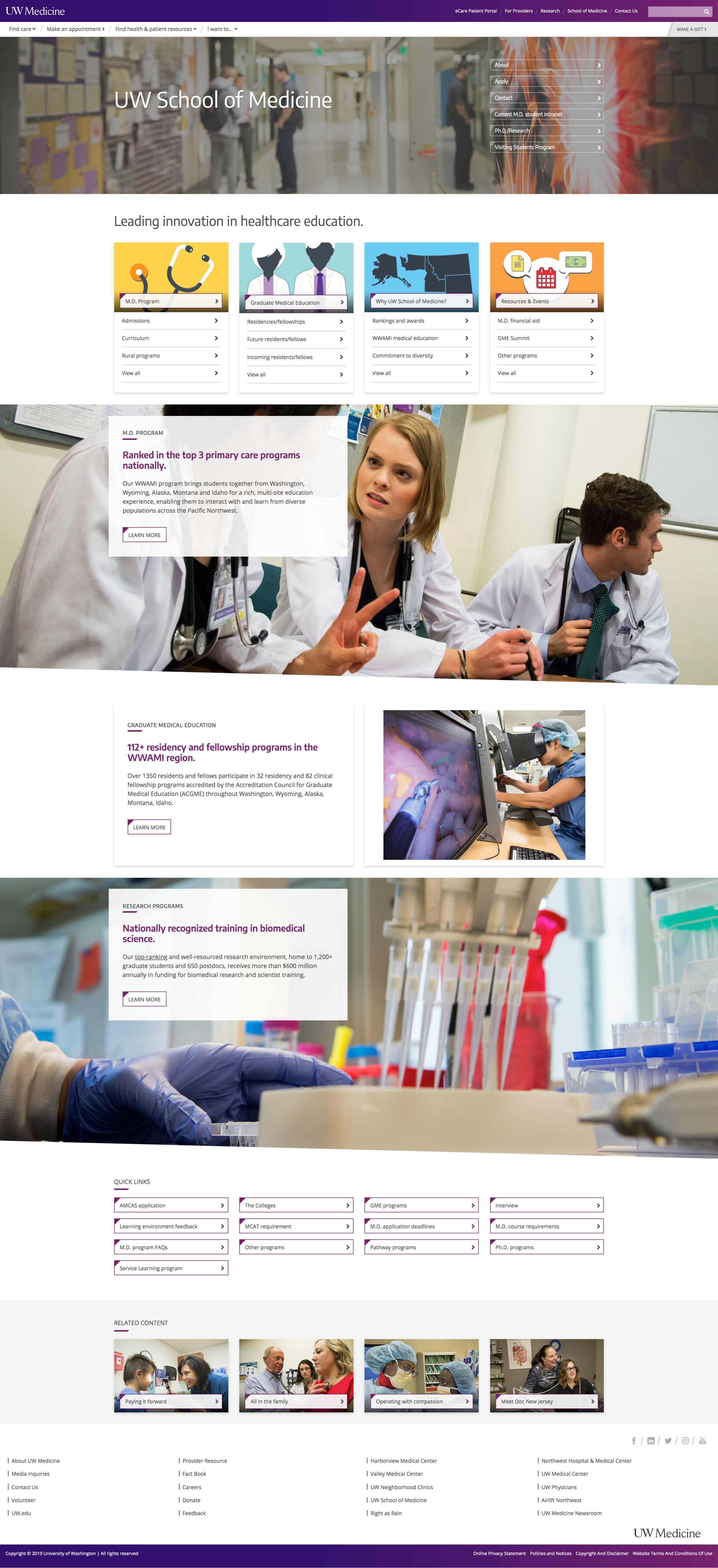 School of Medicine Section Page.png