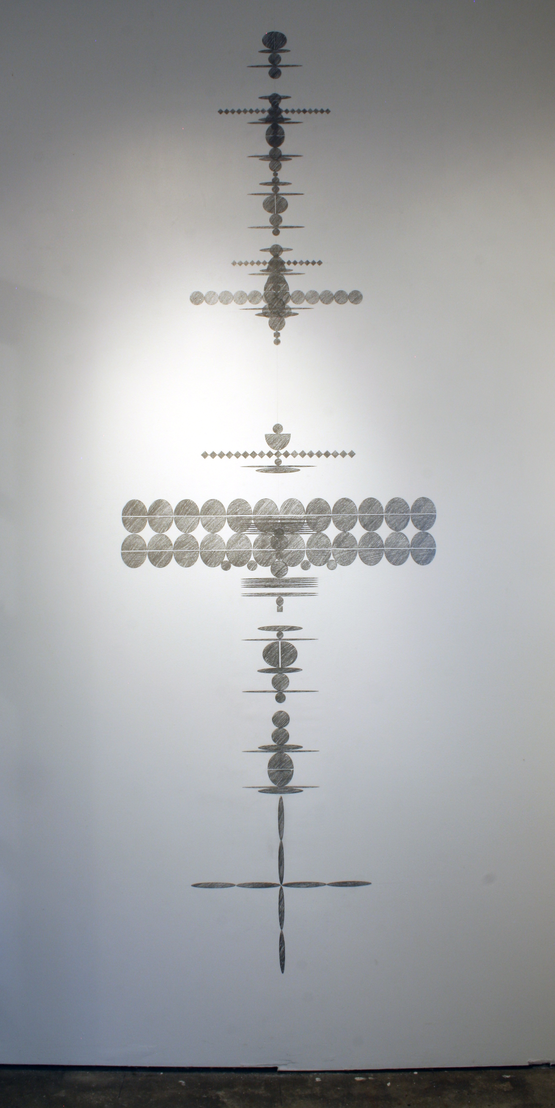 "104"" tall. Installation at Homewood Studios, Minneapolis."