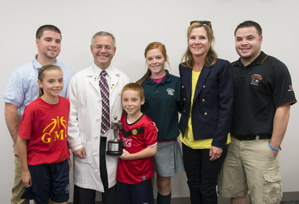 Dr. Cleary with his family (Hand to Hold)