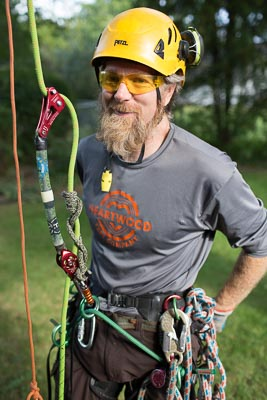 Mark Sundlin, a Madison area arborist and co-owner of Heartwood Tree Co.