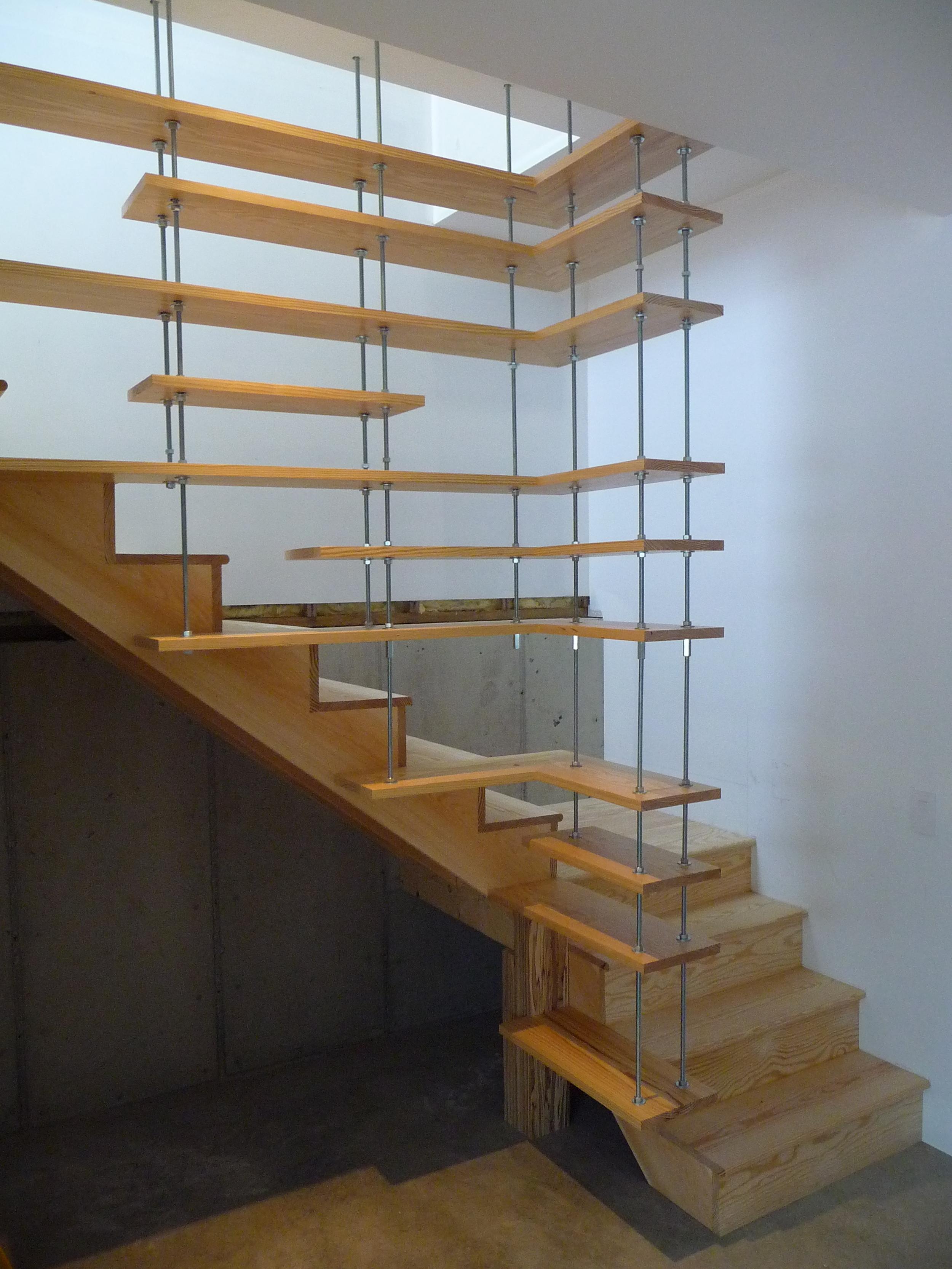 Floating/Adjustable Shelf/Railing Installation, Vermont