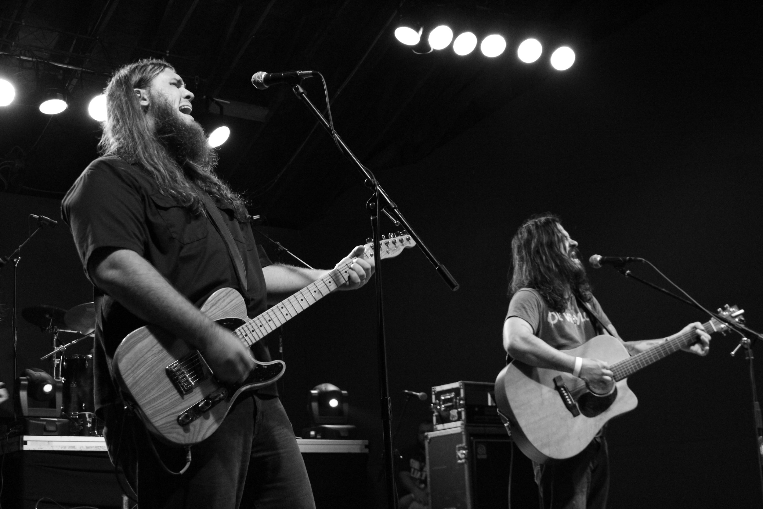 Justin Wells & Shooter Jennings. Midwest Mecca of Bar Hoppers, Middletown, OH. 2014.
