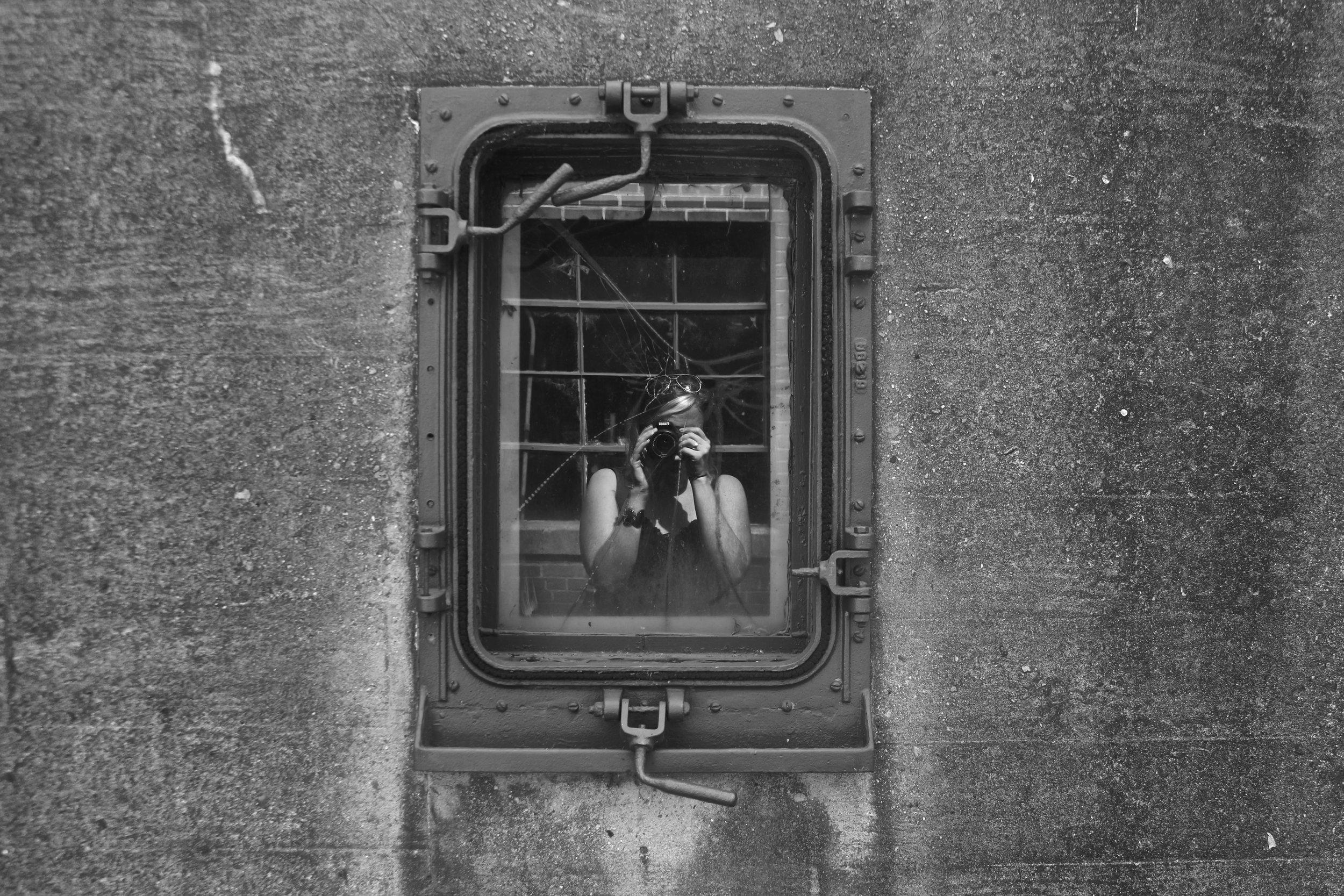 Self portrait at Sloss Furnace