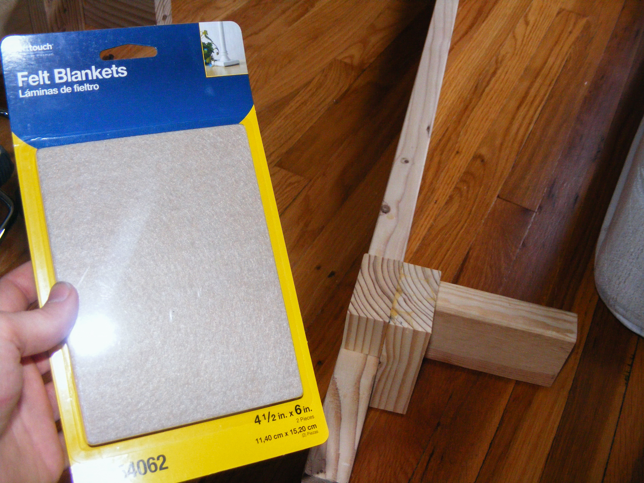 I used these sticky felt pads to protect my floor from the bedlegs.