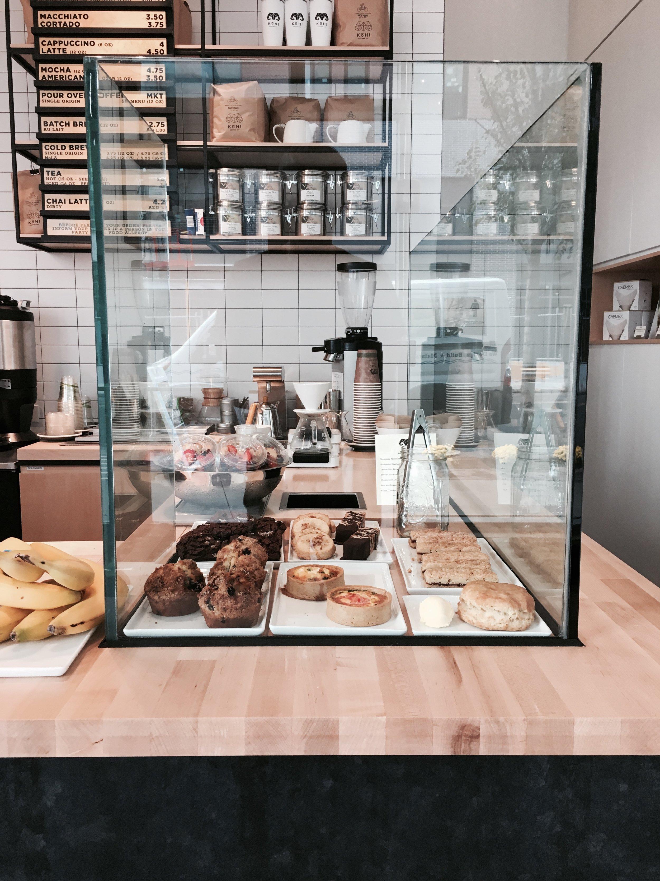 menu - coffee - pastries - food