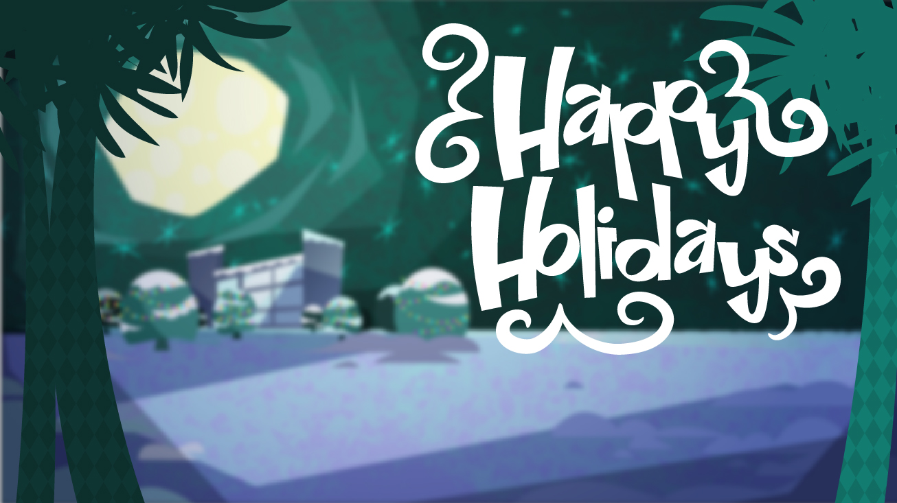Happy Holidays Lettering for Animated eCard