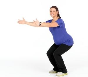 pregnancy squat